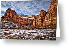Zion Canyon In Utah Greeting Card