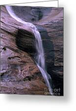 Zion Summer Waterfall Greeting Card