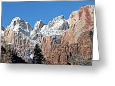 Zion Towers Greeting Card