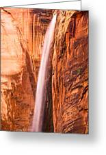 Zion Waterfall Greeting Card