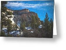 Zion Winter Moment Greeting Card