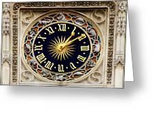 Zodiac Clock Greeting Card