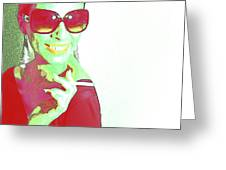 Zoe Greeting Card by Naxart Studio