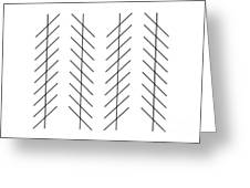 Zoellner Illusion Greeting Card