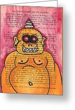 Zombie Buddha Greeting Card