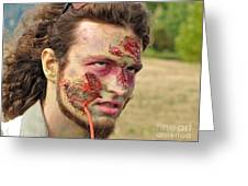 Zombie With Leech Greeting Card