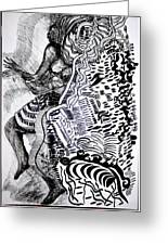 Zulu Dance - South Africa Greeting Card