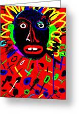 Zulu Red Greeting Card
