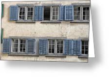 Zurich Window Shutters Greeting Card