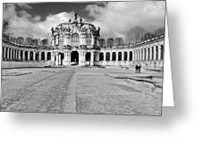 Zwinger Dresden Rampart Pavilion - Masterpiece Of Baroque Architecture Greeting Card