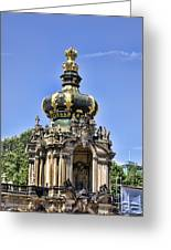 Zwinger Palace Crown Gate Greeting Card