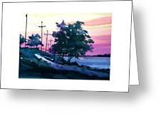 Evening Coast Greeting Card