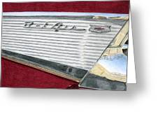 1957 Chevrolet Bel Air Convertible Greeting Card