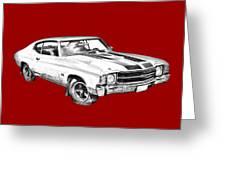 1971 Chevrolet Chevelle Ss Illustration Greeting Card