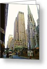 50th Street Greeting Card