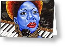 A Part Of Nina Simone Greeting Card