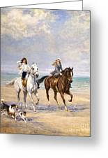 A Ride By The Sea Greeting Card
