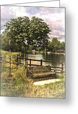 A Seat By The Thames Greeting Card
