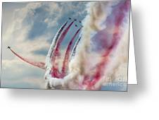 Aerobatic Group Formation  Greeting Card