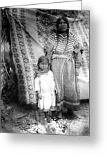 American Indian Woman Female Daughter 1890s Greeting Card