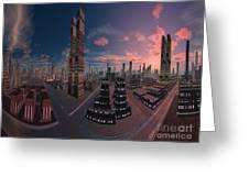 Amsterdam City Nighttime Image Greeting Card