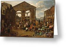 An Italianate Market Scene Greeting Card