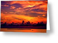 ... And As The Sun Sets On Another Beautiful Day Greeting Card