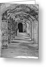 Archway At Moravian Pottery And Tile Works In Black And White Greeting Card