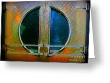 Art Deco Door In Halifax Nova Scotia Greeting Card