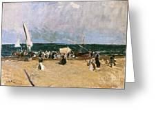At The Beach Valencia Greeting Card