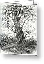 Autumn Dancing Tree Greeting Card