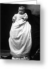 Baby In Long Dress 1903 Black White 1900s Greeting Card
