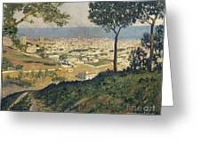 Barcelona Seen From Vallvidrera Greeting Card