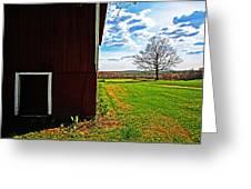 Barn Corner Greeting Card