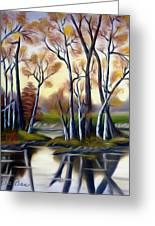 Birch Bay Lagoon Dreamy Mirage Greeting Card
