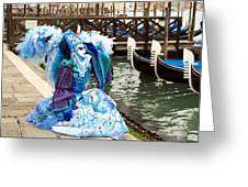 Blue Angel 2015 Carnevale Di Venezia Italia Greeting Card