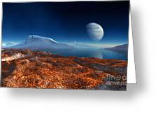 Blue Moon Over Patagonia Greeting Card