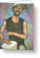 ' Bongo Man I Greeting Card