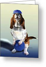 Bowling Hound Greeting Card
