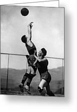 Boy Shooting Basketball 1910s Black White Ball Greeting Card