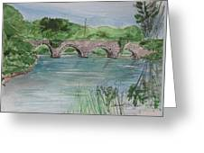Bridge  In Bunclody, Ireland Greeting Card