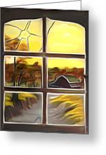 Broken Window Dreamy Mirage Greeting Card