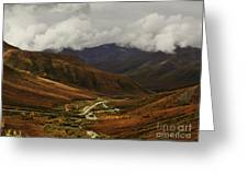 Brooks Range, Dalton Highway And The Trans Alaska Pipeline  Greeting Card