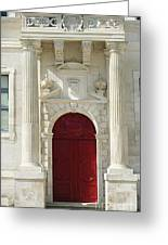 Burgundy Door Greeting Card