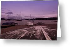Canadian Harbor At Dusk  Greeting Card