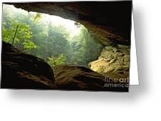 Cave Entrance In Ohio Greeting Card