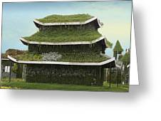 Chinese House Greeting Card