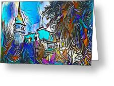 Church Blue - My Www Vikinek-art.com Greeting Card