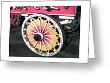 Circus Wagon Wheel Greeting Card