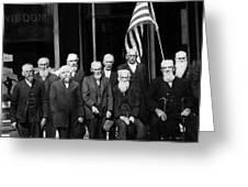 Civil War Veterans October 8 1923 Black White Greeting Card